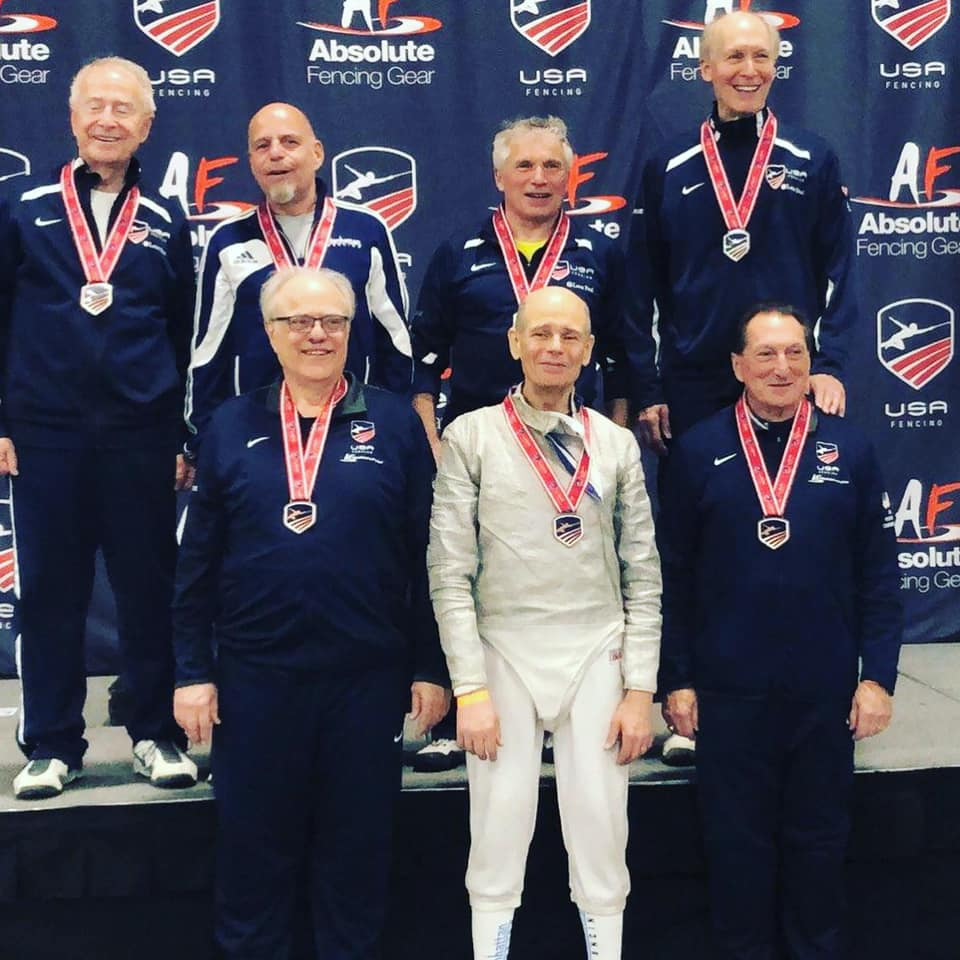 Pictured: Ron Miller received a Top-8 Medal in Vet-70 Men's Saber