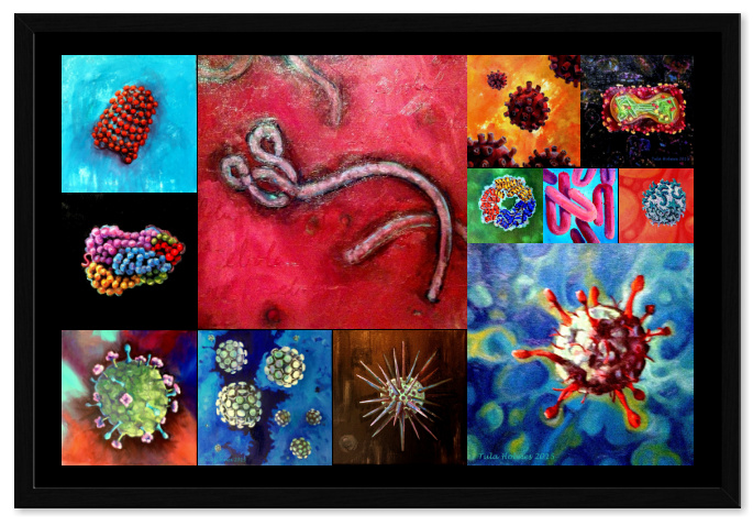"Framed Sick Art Collage- 20"" x 30"""
