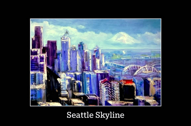 Seattle Skyline Poster- Copyright 2015