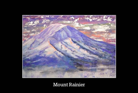 Mount Rainier Poster- Copyright 2014