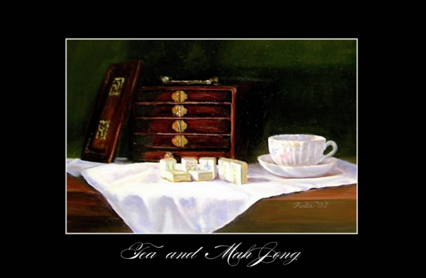 Tea and Mah Jong Posters- Copyright 2015