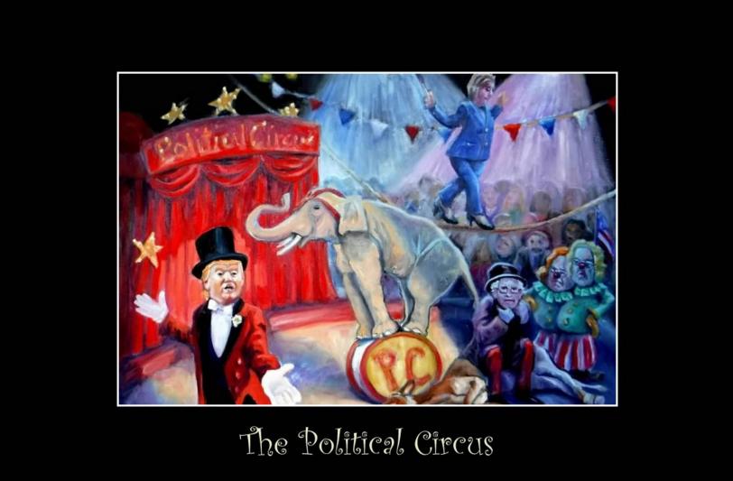 The Political Circus- Poster- Copyright 2016