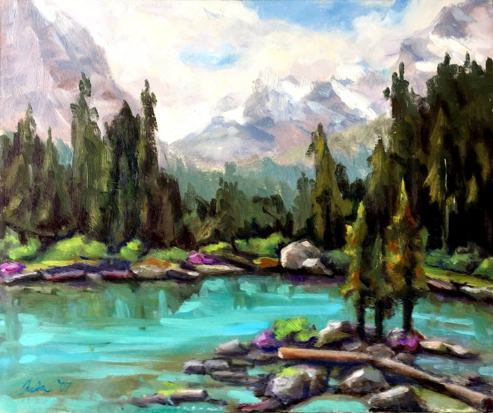 Plein Air Painting at Lake O'Hara, BC- Copyright 2007