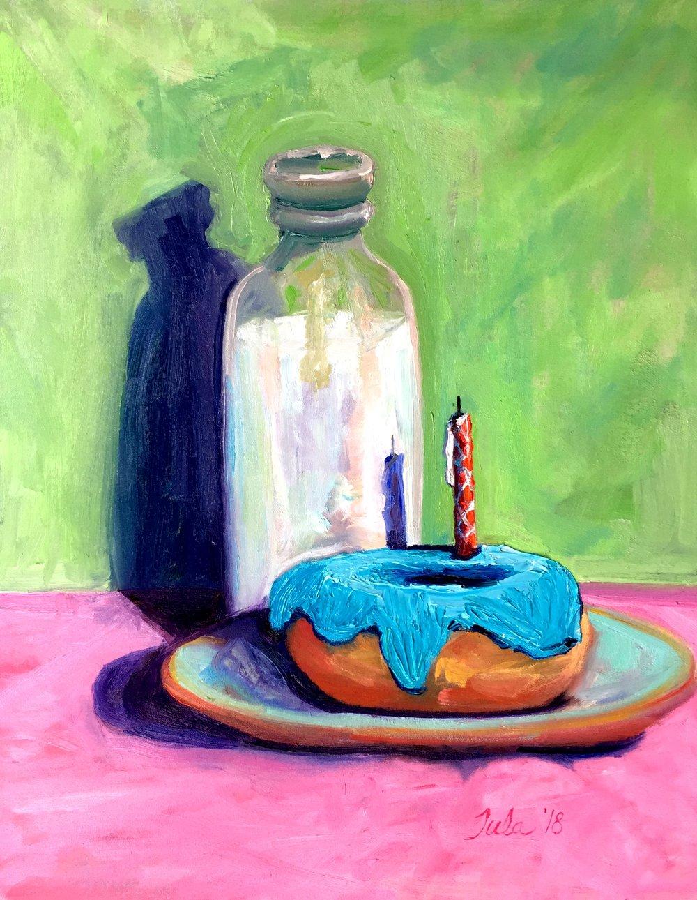 A Birthday Donut- Copyright 2018