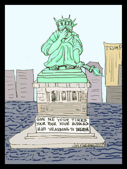 Lady Liberty Cries- Copyright 2017