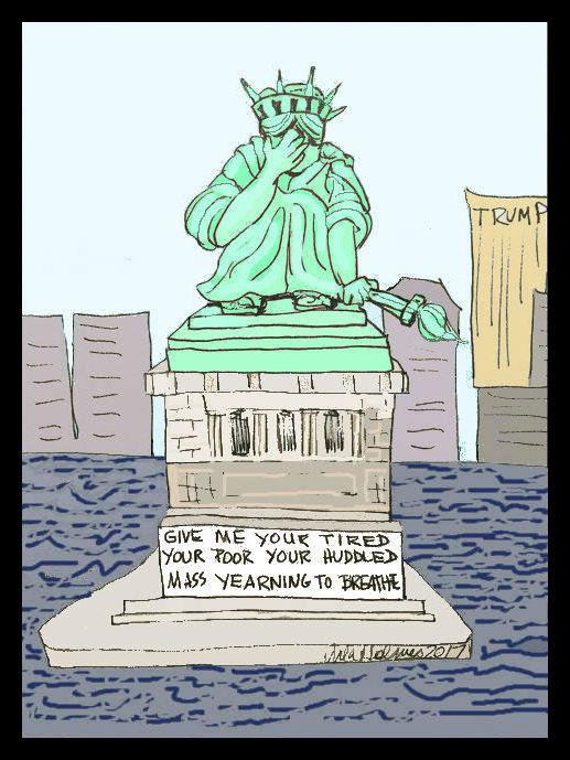 Lady Liberty Cries- Copyright 2017