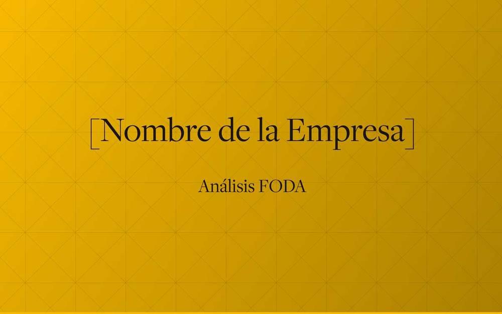 Plantilla de análisis FODA para consultores