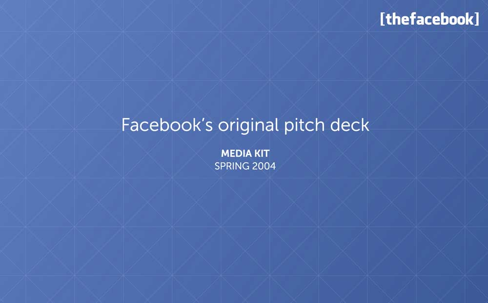 Pitch Deck de Facebook