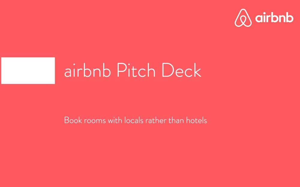 Pitch Deck de Airbnb