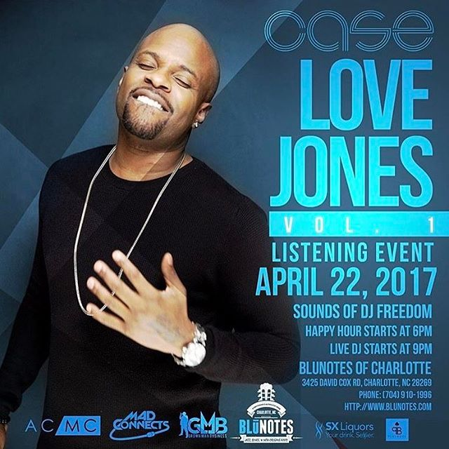 "Join us for a Special Event this Saturday! Tickets on Sale Now at BluNotes.com!  With hit songs like ""Touch Me, Tease Me"", to ""Missing You"", to ""Happily Ever After"", America's favorite R&B hitmaker Case will be performing live at BluNotes of Charlotte as he presents his new album Love Jones Volume 1!! This is a must attend Spring 2017 event.  Happy Hour begins at 6pm  DJ Freedom on the 1s & 2s at 9pm  Case hits the building at 11pm  Purchase bottle service to guarantee an unforgettable experience!  #sneakpeek #performinglive #newmenu #cltdrinks #cltnoms #cltfood #case #clt #charlotteclubs #charlottesgotalot #cltlivemusic #newalbum #lovejones"