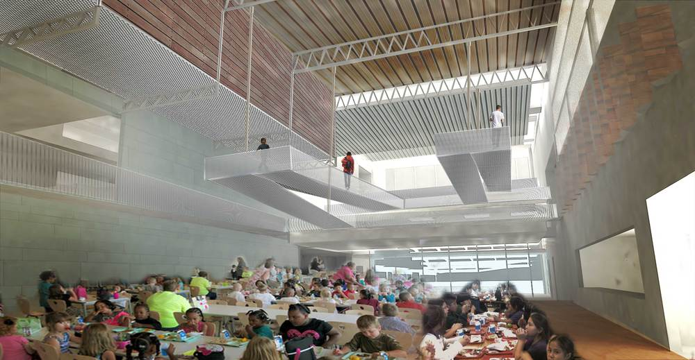 Interior Visualization: Commons and Project Resource Center Suspended Catwalks
