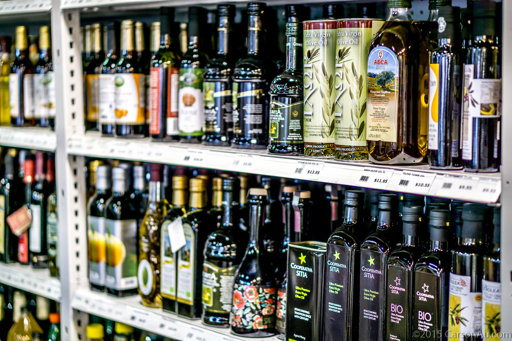 In our oil & vinegar section you can find dozens of different oils and vinegars.  Beautiful balsamic vinegar, imported from Modena and  stone pressed olive oil from the Greek islands.