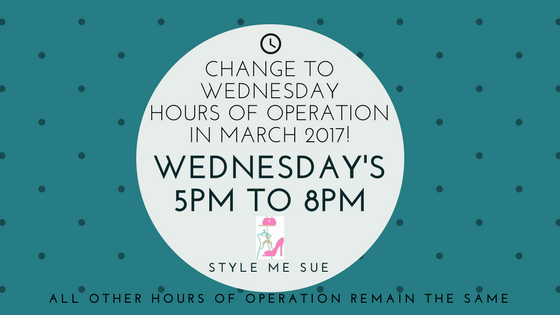 NEW WEDNESDAY HOURS IN MARCH ONLY
