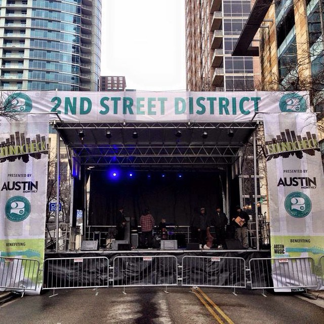 2nd street sound check with Anthoney, Sean, Cody, and Chris on audio. Still 30°!