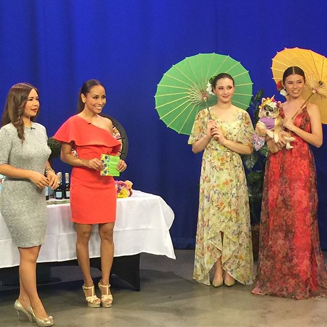 Hello Spring!  Mahalo @kitv4 and the beautiful @alohamoani for sharing @poshdhi One Year Anniversary celebration 🎉 🥂MUH @breathehawaii @tonipfarleymua 💄💋 #poshdposse #celebrate #lamarca #sugarfina #paulbrownsalon #kitv #stylelocal