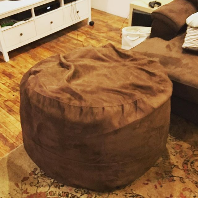 "This... ""bean bag"" chair is too large... And there's Nare a' bean to be seen! #memoryfoam"