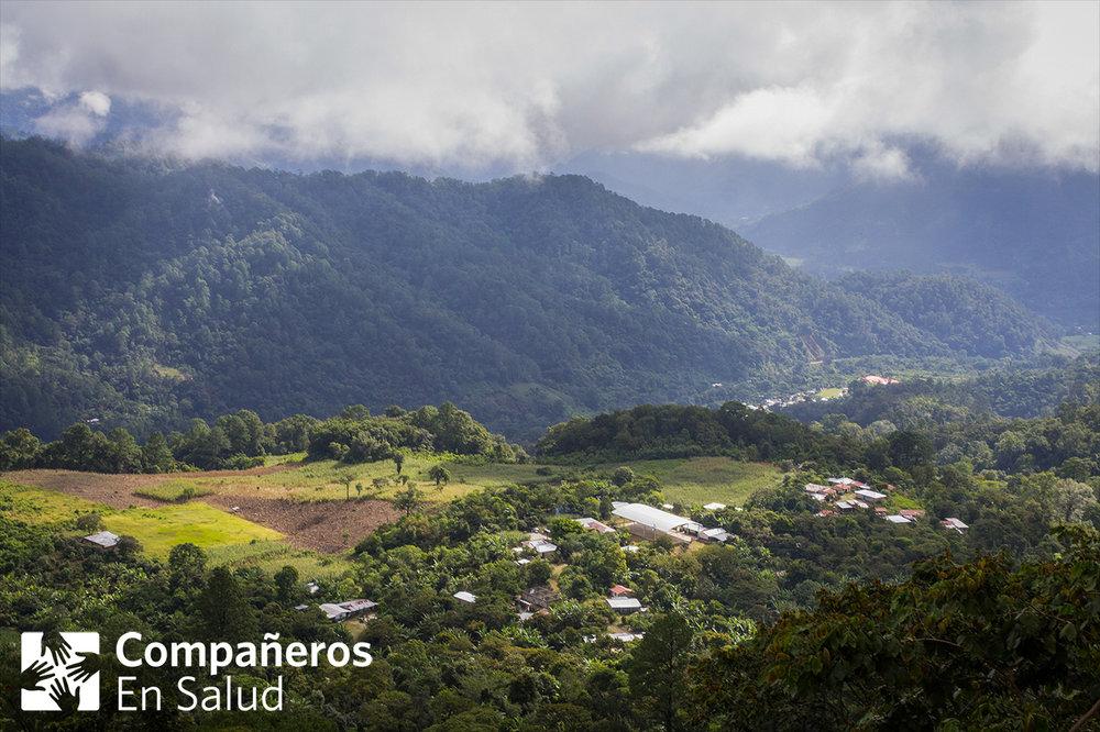 La comunidad de Laguna del Cofre en la Sierra Madre de Chiapas - Foto por Aaron Levenson