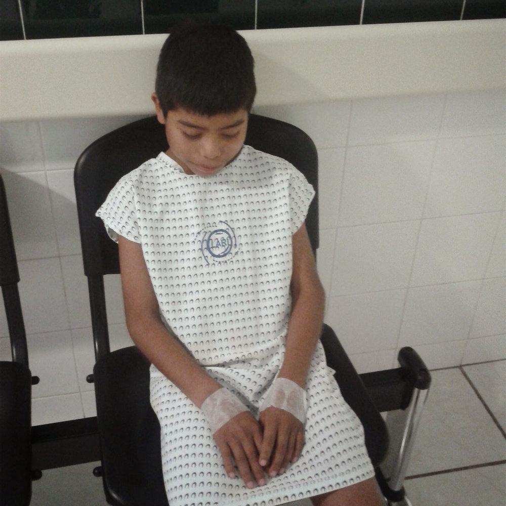 Meynor durante su tratamiento