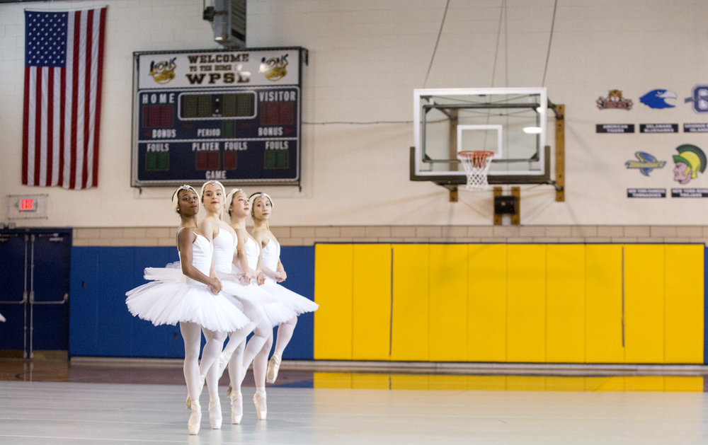 The Pittsburgh Ballet Theatre performed excerpts from the Swan Lake, The Symphony, and West Side Story Suite for children who are deaf or hard of hearing on Wednesday, March 7, 2018 at the Western Pennsylvania School for the Deaf.