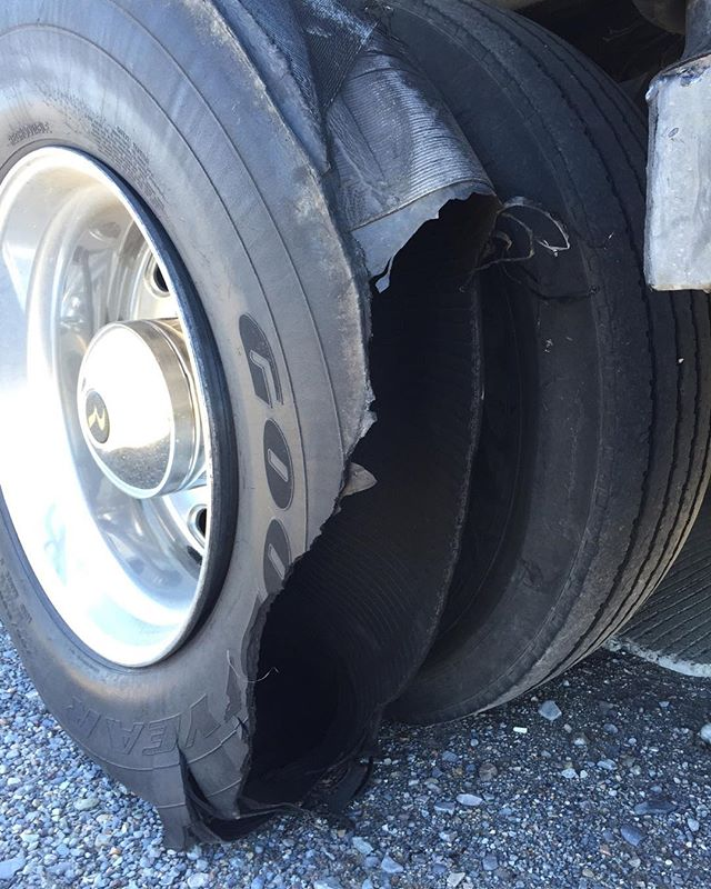 I don't recommend blowing a tire in your RV. 😳 I'm ok just a bit of an elevated heart rate.  I couldn't catch a break if it were implanted into my hand.  #tireblowout #blowout #rv #stuckontheroad #brokedown #lifeontheroad