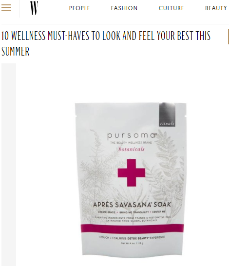 Apres Savasana is one of the 10 wellness must-haves, according to W Magazine