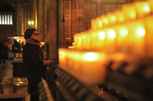 Last of the orange series. Candle light at Notre Dame 🔥 . . . . #notredame #paris #france #portrait #candles #orange #photography #canon