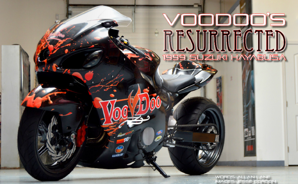 Motorcycle wrap design for VooDoo Customs