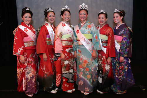 Princess Julie Yoshioka, Princess Christin Sumida, 1st Princess Melissa Fujimoto, Queen and Miss Congeniality Richelle Nakata, Princess Tiffanie Luke and Miss Popularity Melody Yoshimura