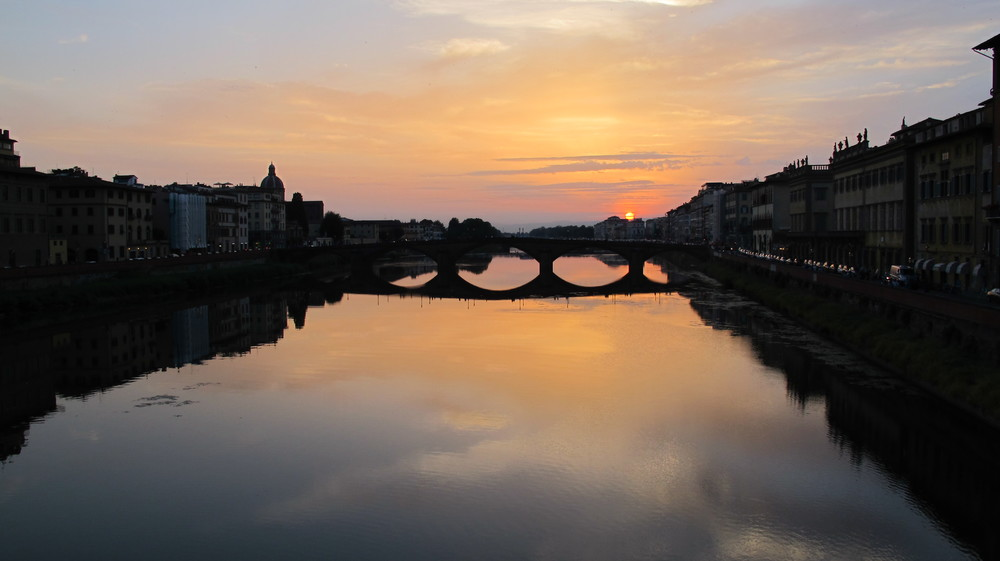 Sunset, Arno River, Florence Italy