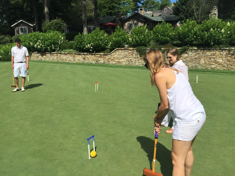 Croquet, Highlands Country Club, Highlands, NC