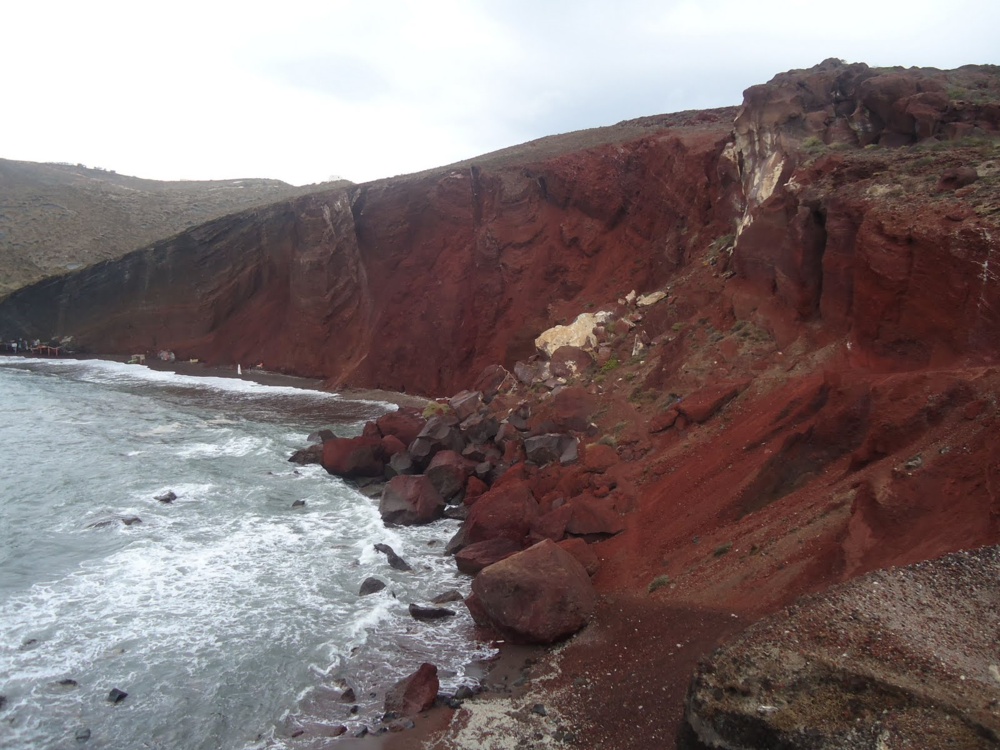 Red Sand Beach, Santorini, Greece