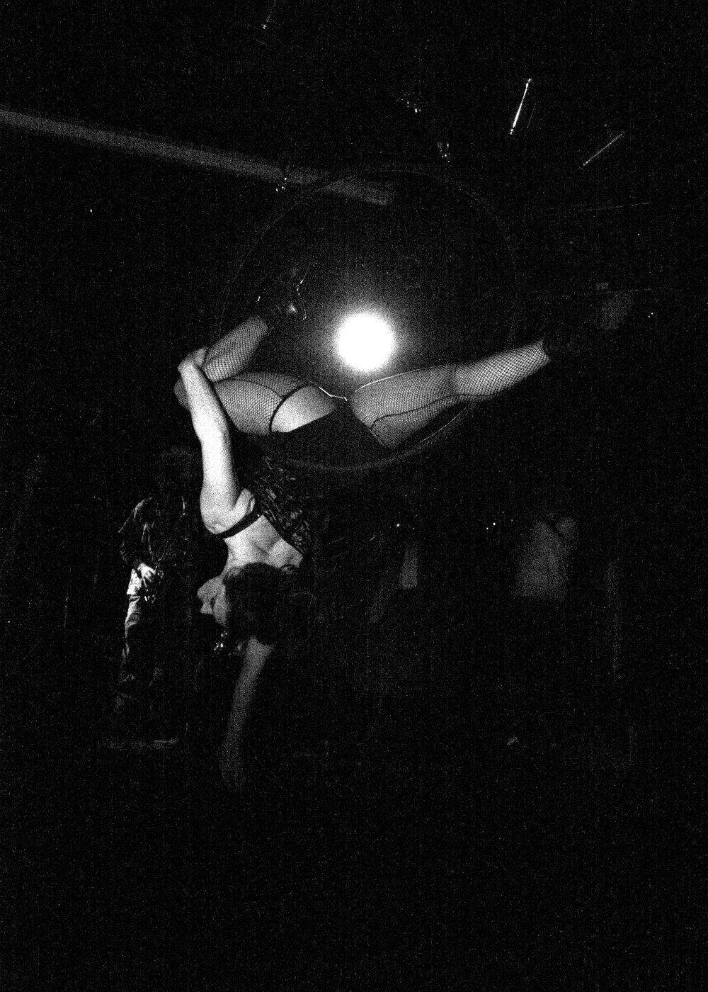 Cat Freak Aerialist   B&W bad grain action.jpg