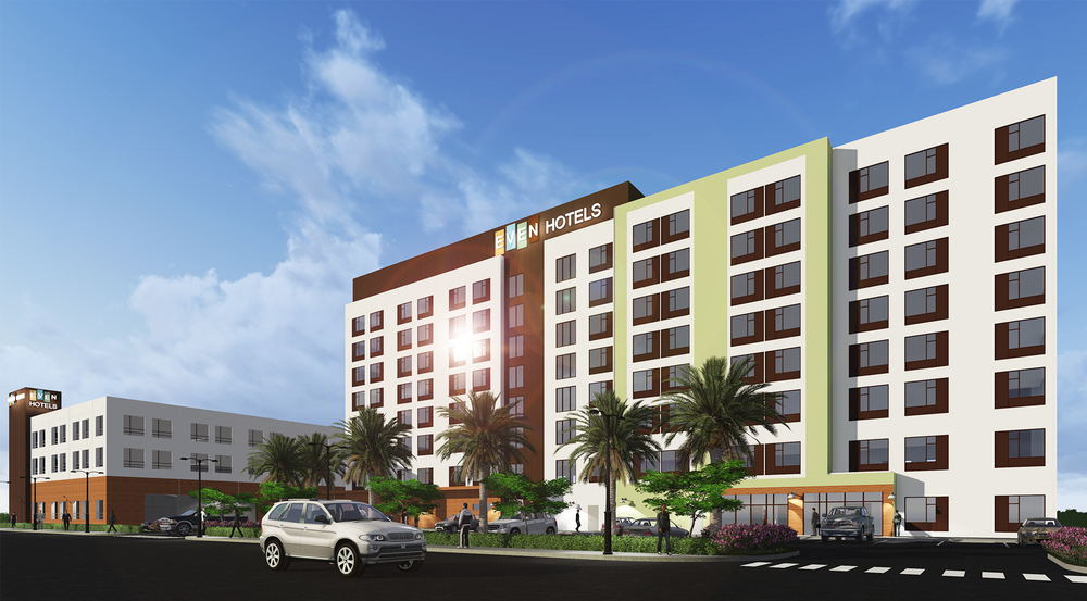 A 189-room EVEN Hotel is being developed near the Miami international Airport and itÕs expected to open by the end of 2017. Source: Epelboim Development Group/DLW Architects  (handout / Sun Sentinel)
