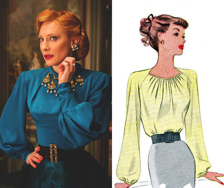 This blouse is a very elegant 1940s cut. I adore anything with balloon sleeves, though they seem to be rather hard (and typically expensive) for me to find, at least in my size. –Maybe I'll find a sewing pattern like this 1940s McCall 6475!
