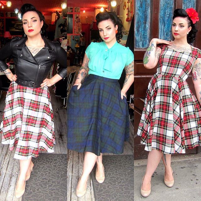 Looking for some fab new plaids? Get your booty over to @slapback_nyc for some amazing pieces! They all sold out last year!  Get to their Brooklyn shop or online at slapbacknyc.com 💕