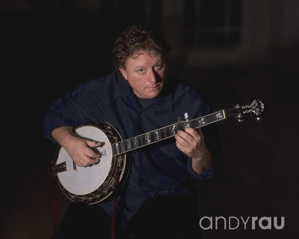 Andy Rau with his Tenbrooks Saratoga Star banjo