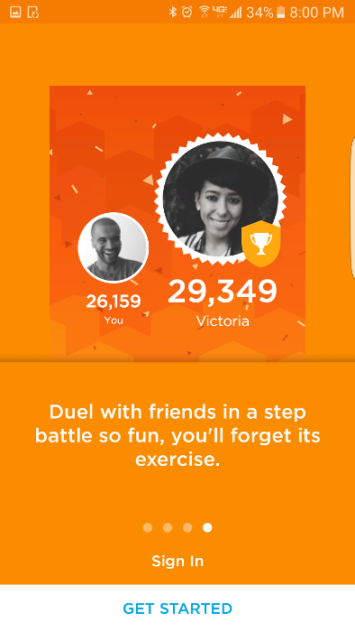 "Connect with and challenge friends to ""duels"" or competitions."