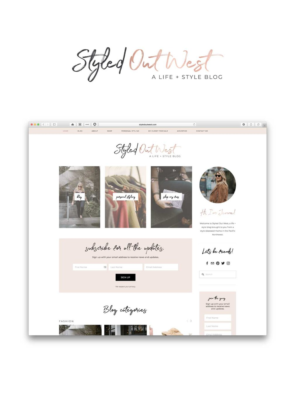 Styled Out West<strong>Web Design</strong>
