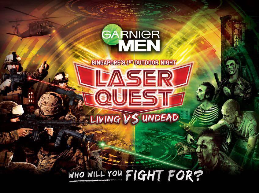 Branding and Marketing Campaign - Garnier Men Outdoor Night Laser Tag Venue: SAFRA Tampines (over 2 days)