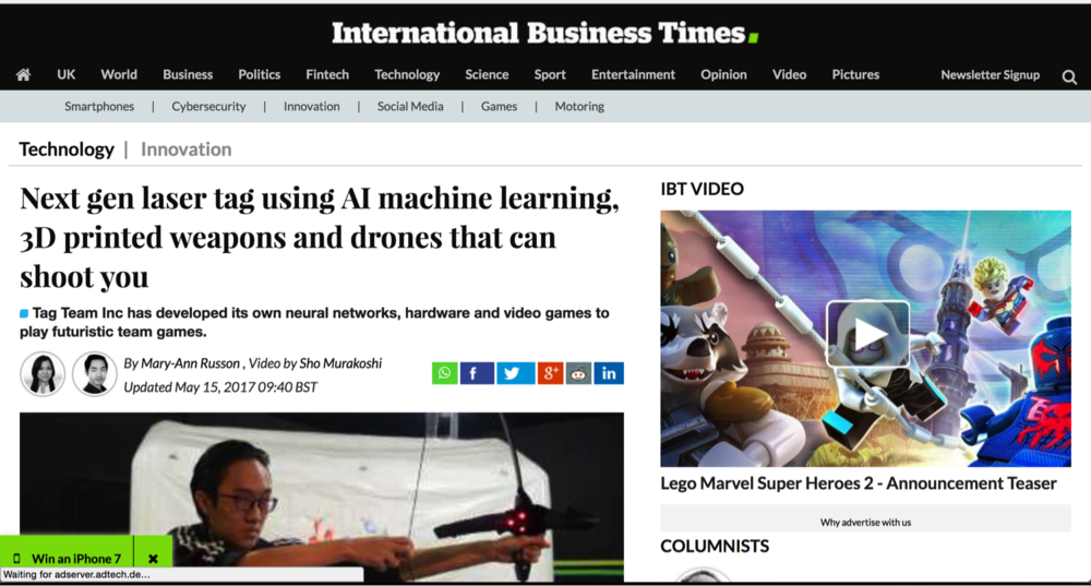 International Business Times UK witnessed our showcase at InnovFest Unbound 2017 - Click on the image to read and watch video from International Business Times UK