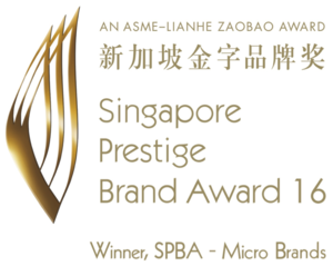 Singapore Prestige Brand Award 2016 - TAG TEAM is very honored to be awarded Singapore Prestige Brand Award 2016 - Micro Brands in recognition of our brand quality and service to all our clients. The Singapore Prestige Brand Award (SPBA) was inaugurated in 2002 by the Association of Small & Medium Enterprises (ASME) and Lianhe Zaobao and supported by IE Singapore, IPOS and Spring Singapore. Today, SPBA continues to recognize and honor Singapore brands that have been developed and managed effectively through various branding initiatives.