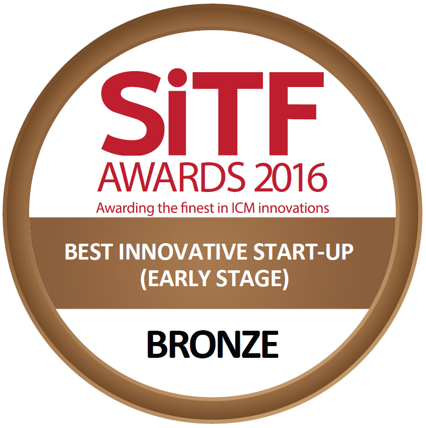 SiTF Best Innovative Start-Up Award 2016 - We're truly honored to be awarded Bronze for Best Innovative Start-Up (Early Stage) by Singapore Infocomm Technology Federation (SiTF)! Thank you, SiTF!