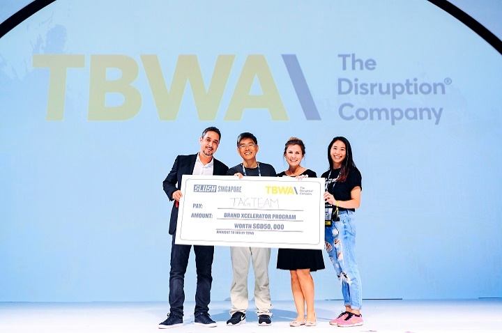 - In Slush Singapore, TagTeam won the Brand Xcelerator Program from TBWA, one of the world's leading advertising agency. TBWA will be assisting TagTeam to brand the company and products/services for overseas expansion.