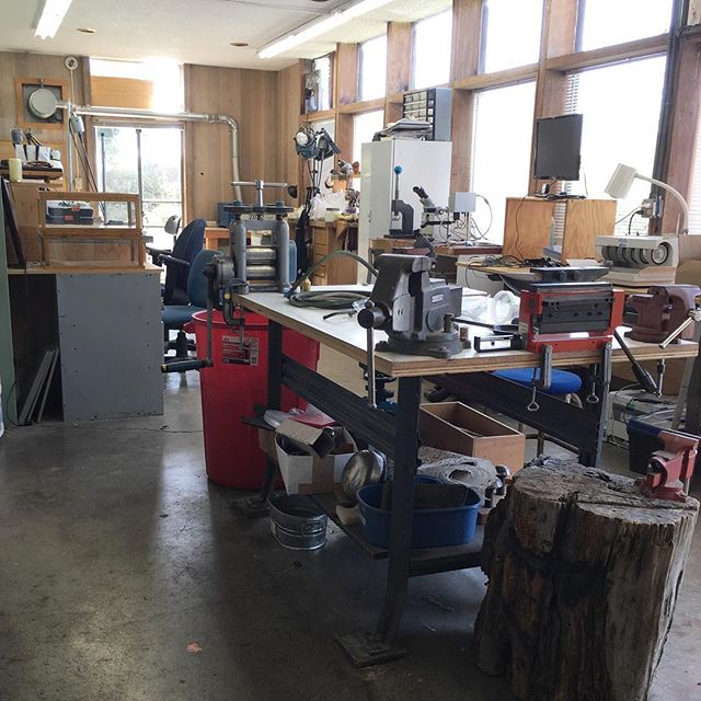 Studio for the day #workingvacation #roadtrip #travelingjeweler #mendocino #makingjewelry #customjewelry