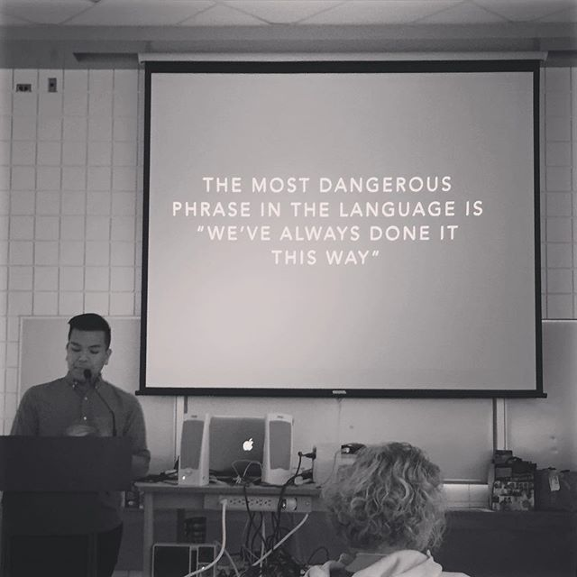 @teachertong hit the nail on the head! #wevealwaysdoneitthisway #mhetasage #mtsSAGE #ywg #mhetasage2015 #techteam #inquirylearning