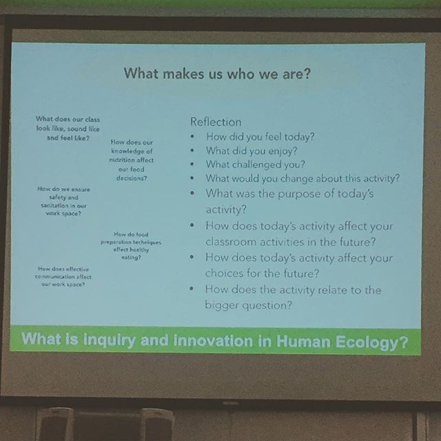 "Reflection! Come back to the big questions.... It's so much more than, ""So what did we learn today?"" #inquirylearning #techteam #mhetasage2015 #ywg #mtspdday @teachertong"