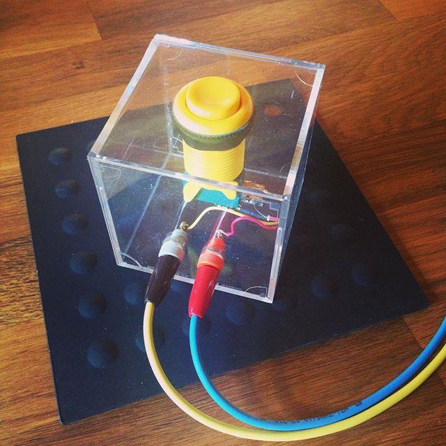 Button in a box.