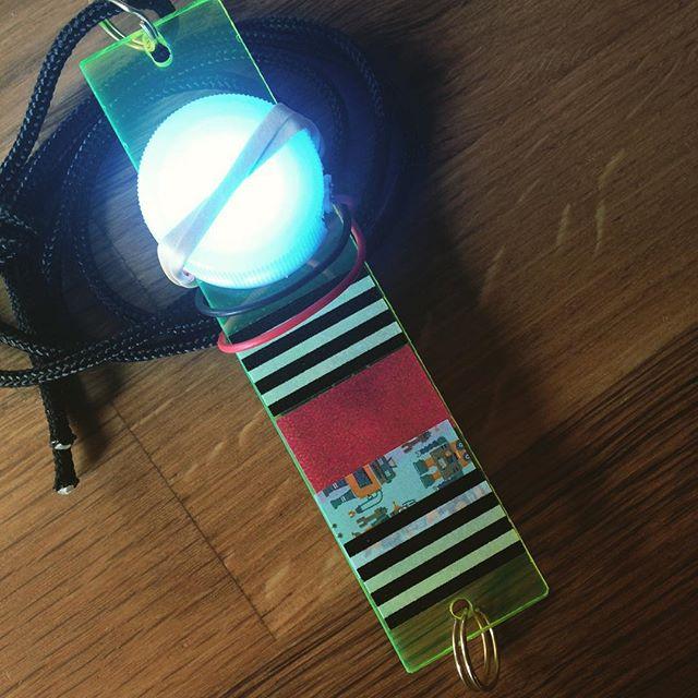 Morse code blinking wearable. For Portland Maker Faire WearableCode workshop.