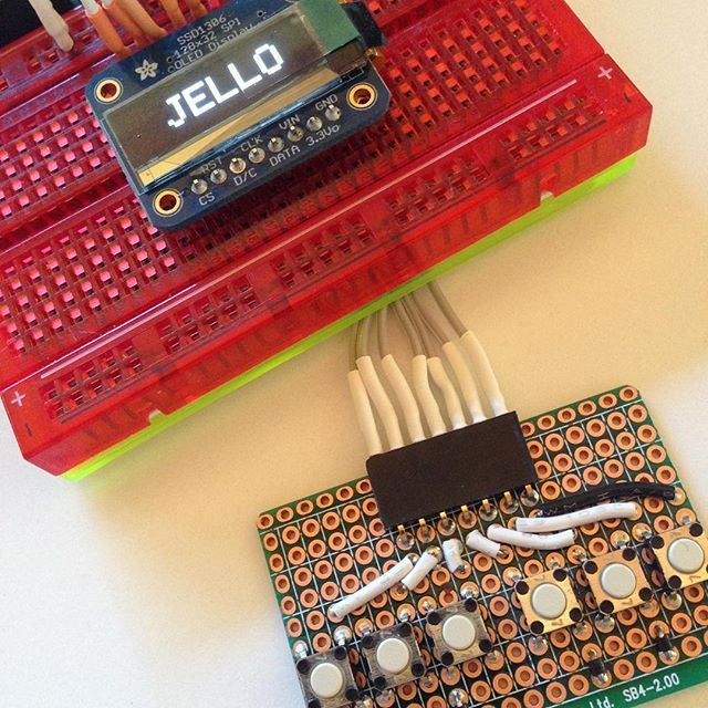 Arduino, OLED display, Button Board.