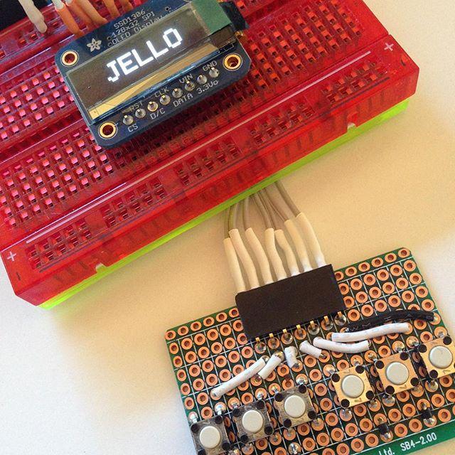 Arduino, OLED display, Button Board.